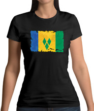 Saint Vincent And The Grenadines Flag Womens T-Shirt Kingstown Caribbean St