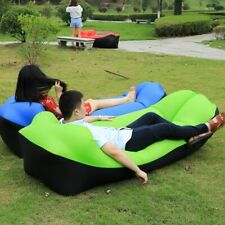 Camping Lazy Bed Sleeping Bag Inflatable Air Sofa Portable Beach Lounger Outdoor