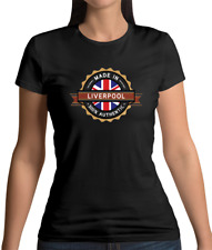 Made In Liverpool Womens T-Shirt - City - England - Hometown - Born In - Gift