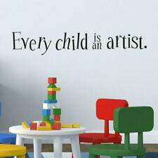 Every Child Is A Different Kind Of Flower Quote Wall Sticker Decal0