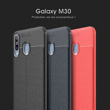 Slim Hybrid Cover Soft TPU Leather Patterned Rubber Case For Samsung Galaxy M30