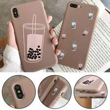 Cute Milk Tea Catton TPU Phone Case for iPhone X XS XR XSMAX 6sPlus 7Plus 8Plus