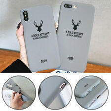 TPU Scrub Catton Elk Phone Case for iPhone X XS XR XSMAX 6sPlus 7 8 7Plus 8Plus