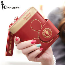 Women Lady ECO Leather Small Mickey Mouse Wallet Cute Cartoon Card ID Holder NEW