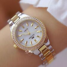 2019 Ladies Wrist Watches Dress Gold Watch Women Crystal Diamond Watches Stainle