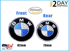 Emblem Badge Logo Replacement 2Pc for BMW Hood OrnamentTrunk _Free 2Day Shipping