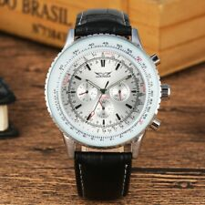 JARAGAR Luxury Mechanical Watch Automatic Leather Wristwatch Stainless Case Gift