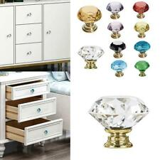 Drawer Wardrobe Pulls Crystal Glass Knobs Diamond Pull Handle Door Knobs Colors