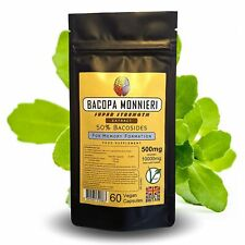 Bacopa Monnieri Extract Capsules - 11000mg Equiv - 55% Bacosides + FREE GIFT