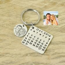 Personalized Calendar Key Chain Special Date Heart Keychain Anniversary Gift