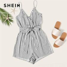 Striped Wrap Cami Rompers Womens Jumpsuit With Belt Women Vacation Beach Clothes