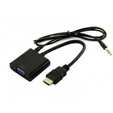 PC HDMI to VGA Video +Audio Cable Converter Adapter For XBOX Laptop Computer TV