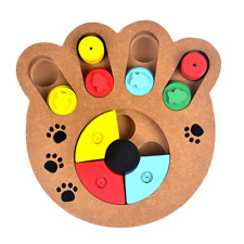 Interactive Cat Teaser Toy Wooden Cat Exercise Stimulation Treat Puzzle Toy