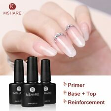10ml Reinforcement Nail Gel Polish Base Top Coat UV Gel Salon Professional NEW