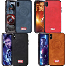 Marvel Avengers Genuine Leather Case Protective Phone Case Skin for iPhone X XS