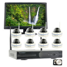 New 8CH 1080P Home Wireless Security Camera System Surveillance NVR With Monitor
