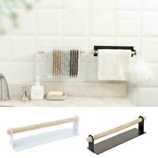 Under Cabinet Kitchen Towel Holder Roll Paper Storage Rack Shelf Self-Adhesive F