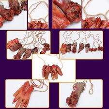 Foot Cosplay Horror Props  Lifesize Bloody Hand Halloween Costume Latex Toys