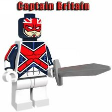 CAPTAIN-BRITAIN MINIFIGURES AVENGERS SUPER HEROES MARVEL DC COMICS CUSTOM TOYS