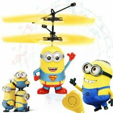Mini RC drone Flying RC Helicopter Aircraft Minion dron Infrared Induction LED