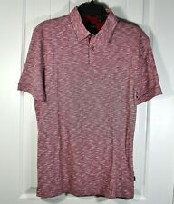 NWT MEN BOSS HUGO JERSEY 601 SHORT SLEEVE DARK RED REGULAR FIT POLO SHIRT M, XL