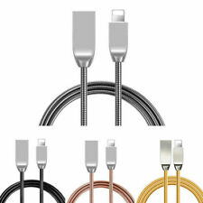 Strong Metal Braided Lightning USB Charger Cable For iPhone 6 7 8 X 6S 5 5s 5c