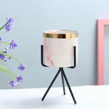 Mini Flower Pots with Metal Stand Ventilated Flower Plant Pot Iron Vase with