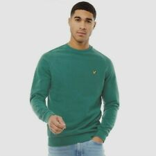 Lyle & Scott Crew Neck Washed Sweatshirt BNWT Designer Men Jumper Clothing Green