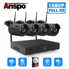 Anspo Wireless Security Camera System 8CH HD 1080P CCTV WIFI Kit NVR Outdoor
