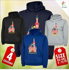 Trendy Adults Kids Hooded Sweatshirt Colourful Castle Design Hoodies 2YRS to 4XL