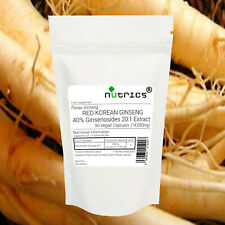 Nutrics® 14,000mg Red Korean Ginseng Capsules 20:1 Strong Red Panax Pure Extract