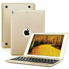 For iPad 9.7 2017 2018 Air 2 1 Smart Case With Bluetooth Keyboard Cover UK Gold