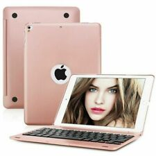 For iPad 9.7 2017 2018 Air 2 1 Smart Case With Bluetooth Keyboard Cover RoseGold