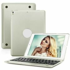 For iPad 9.7 2017 2018 Air 2 1 Smart Case With Bluetooth Keyboard Cover Silver