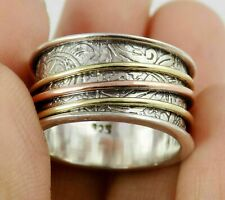 Spinner Silver Ring,Rose,Gold Plated Silver Ring,925 Silver Filigree Ring 8-9Grm