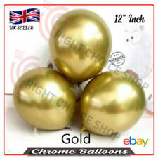 12 inch Round Chrome *Gold* Latex Balloon, Birthday Party Wedding Decoration uk