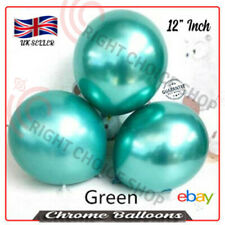 12 inch Round Chrome *Green* Latex Balloon, Birthday Party Wedding Decoration uk