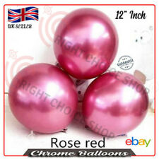 12 inch Round Chrome *Hot Pink* Latex Balloon, Birthday Party Wedding Decoration