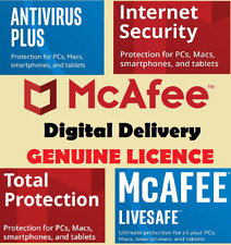 McAFee Internet Security / Total Protection / LiveSafe - 1 / 10 Devices - 1 Year