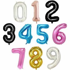 40''1m Giant Number Foil Balloons Birthday Party Wedding Anniversary Balloon HIT