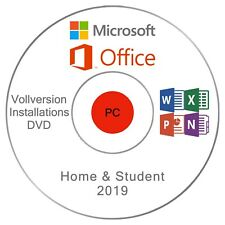 Microsoft Office Home and Student 2019 INSTALLATIONS - DVD/USB - Vollversion