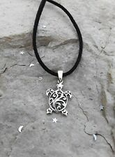 Sea Turtle Pendant Necklace, Sterling Silver Turtle Pendant, Nautical Jewelry