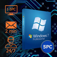 Windows 7 - Pro - 32&64 bits - 1/5 PC - Lizenz per Email - Kundenservice
