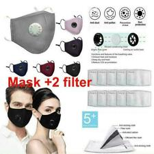 Reusable Face Cover with Filter Breathable Mouth Protection Anti Haze & 2filter