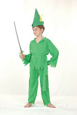 Peter Pan Robin #Hood Child Fairy Tales Fancy Dress Complete Outfit All Size