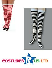 SEXY LADIES THIGH #HIGH STOCKINGS BLACK WHITE OR RED WHITE CHECKED