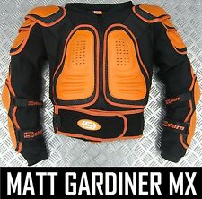 STERN 2 MOTOCROSS ENDURO BODY ARMOUR SUIT BIONIC JACKET ORANGE adult all sizes