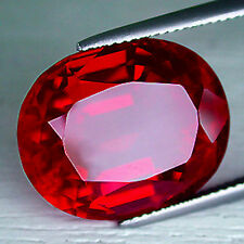 Oval AAA Rated Bright Red Lab Created Ruby (5x3 to 25x20mm)