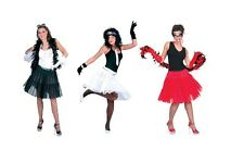ADULT PETTICOAT LONG ONE SIZE CHRISTMAS OUFIT FANCY DRESS BLACK / WHITE / RED