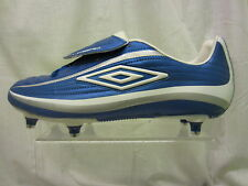Mens Umbro Lace Up Football Boot, Synthetic, Blue/White/Silver, Vortex 11-A SG